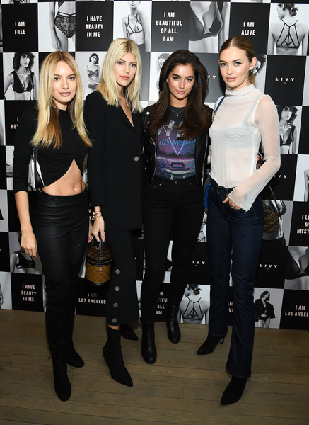 Angel Sara Sampaio And Designer Lisa Chavy Introduce 'LIVY' At Victoria's Secret