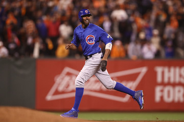 Dexter Fowler Division Series - Chicago Cubs v San Francisco Giants - Game Three