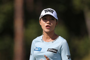 Lydia Ko of New Zealand waves to the gallery after making a putt on the fourth hole during the third round of the Diamond Resorts Tournament of Champions at Tranquilo Golf Course at Four Seasons Golf and Sports Club Orlando on January 19, 2019 in Lake Buena Vista, Florida.