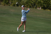 Lydia Ko of New Zealand hits her second shot on the fourth hole during the third round of the Diamond Resorts Tournament of Champions at Tranquilo Golf Course at Four Seasons Golf and Sports Club Orlando on January 19, 2019 in Lake Buena Vista, Florida.