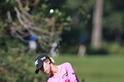 Lydia Ko of New Zealand hits her third shot on the sixth hole during the second round of the Diamond Resorts Tournament of Champions at Tranquilo Golf Course at Four Seasons Golf and Sports Club Orlando on January 18, 2019 in Lake Buena Vista, Florida.