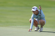 Lydia Ko of New Zealand lines up a putt on the fourth hole during the third round of the Diamond Resorts Tournament of Champions at Tranquilo Golf Course at Four Seasons Golf and Sports Club Orlando on January 19, 2019 in Lake Buena Vista, Florida.
