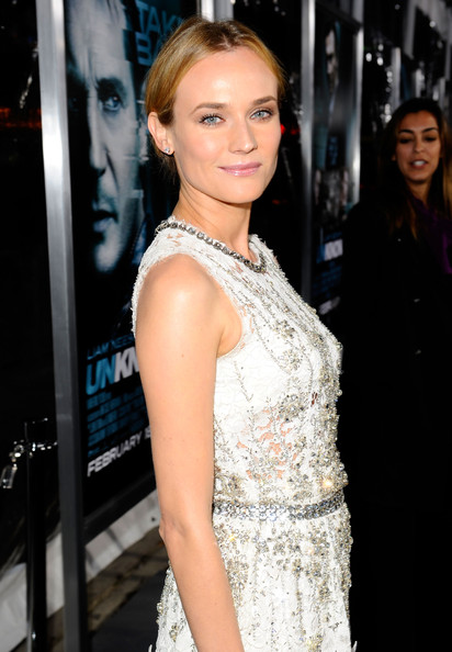"Diane Kruger Actress Diane Kruger arrives at Warner Bros. Los Angeles Premiere of ""Unknown"" held at Regency Village Theatre on February 16, 2011 in Westwood, California."