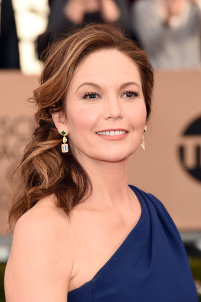 The 22nd Annual Screen Actors Guild Awards - Arrivals [hair,face,hairstyle,eyebrow,shoulder,beauty,skin,brown hair,chin,long hair,arrivals,diane lane,screen actors guild awards,los angeles,california,the shrine auditorium]