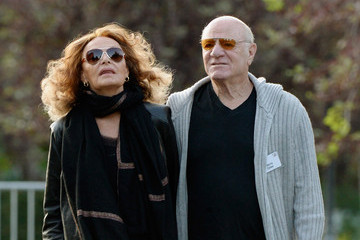 Diane Von Furstenberg Barry Diller Business Leaders Meet in Sun Valley for Conference