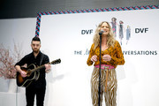 Jennifer Nettles performs at Diane Von Furstenberg's InCharge Conversations 2020 Presented by Mastercard on March 06, 2020 in New York City.