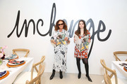 Diane von Furstenberg and Daniella Pierson attend an In Charge Luncheon hosted by Diane von Furstenberg and LinkedIn on September 05, 2019 in New York City.