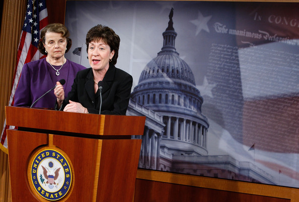 Cash For Clunkers Ca >> Dianne Feinstein and Susan Collins Photos Photos - Senators Feinstein And Collins Discuss The ...