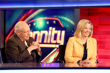 Dick Cheney Former Vice President Dick Cheney and His Daughter Liz Cheney Visit FOX News