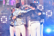 New Kids on the Block on stage during Dick Clark's New Year's Rockin' Eve With Ryan Seacrest 2019 on December 31, 2018 in New York City.
