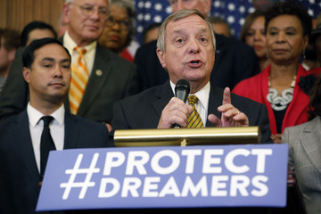 Dick Durbin Schumer, Pelosi Lead Democrats' Call For GOP Lawmakers to Stand Up to President on Decision to End DACA