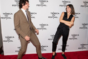 (L-R) Adrian Enscoe and Ella Hunt attend the Dickinson screening during the 2019 Tribeca TV Festival at Regal Battery Park Cinemas on September 14, 2019 in New York City.