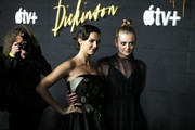 """Ella Hunt and Anna Baryshnikov attend """"Dickinson"""" New York Premiere at St. Ann's Warehouse on October 17, 2019 in New York City."""