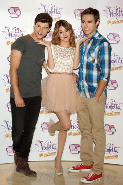 'Violetta' Madrid Photo Call [violetta,madrid photocall,fashion,event,fashion design,premiere,style,diego dominguez,jorge blanco,martina stoessel,l-r,madrid,spain,emperador hotel,photocall]