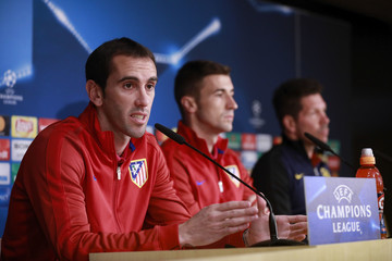 Diego Godin Atletico Madrid Training and Press Conference