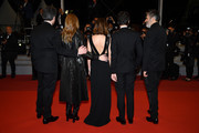 """(L-R) Benjamin Biolay, Chiara Mastroianni, Camille Cottin, Vincent Lacoste and Christophe Honore attend the screening of """"Diego Maradona"""" during the 72nd annual Cannes Film Festival on May 19, 2019 in Cannes, France."""