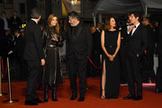 """(L-R) Benjamin Biolay, Chiara Mastroianni, Christophe Honore, Camille Cottin and Vincent Lacoste attend the screening of """"Diego Maradona"""" during the 72nd annual Cannes Film Festival on May 19, 2019 in Cannes, France."""