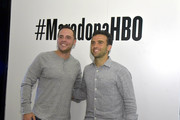 Giuseppe Rossi (R) attends The Diego Maradona Temple Experience on September 19, 2019 in New York City.