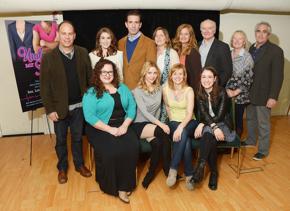 'Under My Skin' Cast Meet & Greet [under my skin,social group,event,team,edward james hyland,marla mcnally philips,kirsten sanderson,cast,actors,actors,back row,front row,cast meet greet]