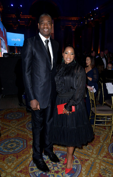 15th Annual UNICEF Snowflake Ball 2019 - Inside [event,fashion,suit,formal wear,textile,outerwear,fashion design,dikembe mutombo,rose mutombo,new york city,cipriani wall street,unicef,snowflake ball]