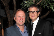 Nick Jones and Jay Jopling at the Tracey Emin dinner hosted by Phillips and Vanity Fair at Cecconi's at Soho Beach House on December 3, 2013 in Miami Beach, Florida.