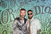 David Beckham and Maluma attend the Dior Men's Fall 2020 Runway Show on December 03, 2019 in Miami, Florida.
