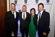 (L-R) Director Peter Berg, Boston Police Commissioner William Evans, Terry Evans and Boston's own Mark Wahlberg attend the 3rd annual Boston Police Department Foundation Gala to present THE HERO'S AWARD to BPD Officer John Moynihan. on March 5, 2016 in Boston, Massachusetts.