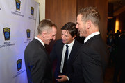 Director Peter Berg, Boston Police Commissioner William Evans and Boston's own Mark Wahlberg attend the 3rd annual Boston Police Department Foundation Gala to present THE HERO'S AWARD to BPD Officer John Moynihan. on March 5, 2016 in Boston, Massachusetts.