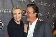 """Jane Lynch and Chris Noth attend the Discovery's """"Manhunt: Unabomber"""" World Premiere at the Appel Room at Jazz at Lincoln Center Frederick P. Rose Hall on July 19, 2017 in New York Cit"""