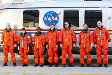 Clayton Anderson Discovery Shuttle Crew Arrives For Terminal Countdown Demonstration Test