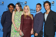 "(L-R) Actors Naveen Andrews, Sophie Lowe, Emma Rigby, Michael Socha, and Peter Gadiot attend the Disney & ABC Television Group's ""2013 Summer TCA Tour"" at The Beverly Hilton Hotel on August 4, 2013 in Beverly Hills, California."