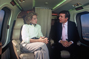 """20/20 - 10/15/87.Barbara Walters interviewed Donald Trump on his aircraft for """"20/20""""..(Photo by Donna Svennevik/ABC via Getty Images)..BARBARA WALTERS, DONALD TRUMP"""