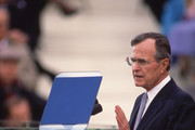 PRESIDENTIAL INAUGURATION - 1989 George H.W. Bush delivers his inaugural speech after being sworn into office.