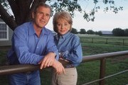 ABC NEWS - 20/20 - 5/2/00  .Barbara Walters interviews Presidential candidate Governor George W. Bush and his wife Laura, at their home in Crawford, Texas, airing on 20/20 FRIDAY, on MAY 5, 2000 (10-11 pm, ET) on the ABC Television Network.    .(Photo by Virginia Sherwood/ABC via Getty Images)  .GEORGE W. BUSH, BARBARA WALTERS