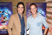 """Actors Adam Jacobs and Scott Weinger attend Disney's """"Aladdin"""" Broadway Press Day at the Crosby Street Hotel on October 12, 2015 in New York City."""