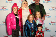 Tori Spelling and Dean McDermott with family attend Disney On Ice Presents Mickey's Search Party Holiday Celebrity Skating Event at Staples Center on December 13, 2019 in Los Angeles, California.