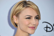 Actress Samaire Armstrong arrives at the Disney Media Networks International Upfronts at Walt Disney Studios on May 19, 2013 in Burbank, California.