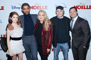 """Anna Kendrick, Kingsley Ben-Adir, Suzanne Todd, Marc Lawrence attend the Disney + Premiere Of """"Noelle"""" at SVA Theatre on November 11, 2019 in New York City."""