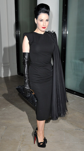 Dita+Von+Teese+Jean+Paul+Gaultier+Front+Row+8BmylHjmlS3l PFW Front Row: Dita Von Teese Hits Paris Shows %tag