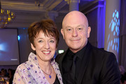 Getty Images CEO Dawn Airey and Ross Kemp attend the 2018 Diva Awards at The Waldorf Hilton Hotel on June 8, 2018 in London, England.