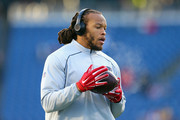 Jabaal Sheard #93 of the New England Patriots warms up for the the AFC Divisional Playoff Game against the Kansas City Chiefs at Gillette Stadium on January 16, 2016 in Foxboro, Massachusetts.