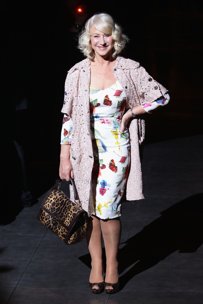 Helen Mirren Photos Photos Dolce Gabbana Front Row Milan Fashion Week Womenswear Autumn