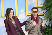 "Susan Downey and Robert Downey Jr attend the ""Dolittle"" special screening at Cineworld Leicester Square on January 25, 2020 in London, England."