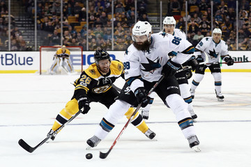 Dominic Moore San Jose Sharks v Boston Bruins