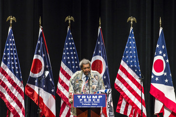 Don King GOP Presidential Nominee Donald Trump Campaigns in Toledo, Ohio
