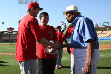 Don Newcombe Los Angeles Angels Of Anaheim vs. Los Angeles Dodgers