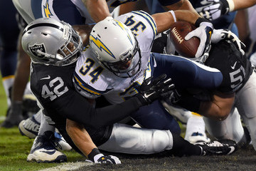 Donald Brown San Diego Chargers v Oakland Raiders