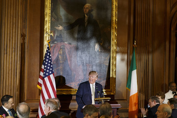 Donald J. Trump Trump And Pence Host Irish Taoiseach For Annual Friends Of Ireland Luncheon