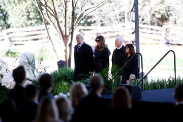 Donald J. Trump Funeral Service Held For Rev. Billy Graham At The Billy Graham Library