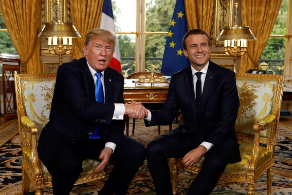 Image result for trump in elysee